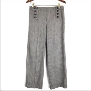 New Directions Chambray Striped High Rise Pants 8